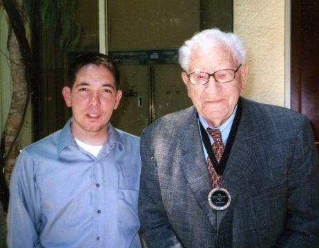 Nicholas Inman with George Beverly Shea